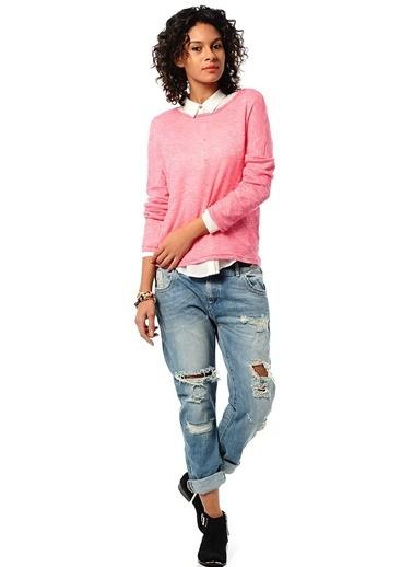 Vero Moda Vero Moda 10087013AROA Kadın Tişört Mor